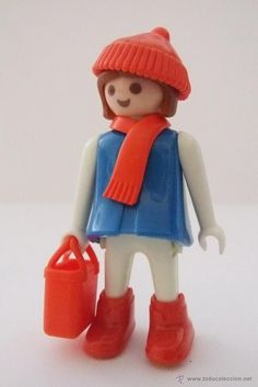 Playmobil Mujer antigua de manos fijas con accesorios rojos, click Playmobil woman