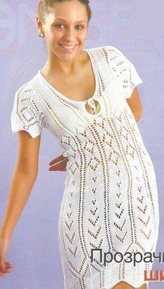 Летнее платье спицами. Схема,описание