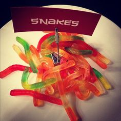 I ate a snake, and I liked it! @aimeeisms #Ninjago party tonight