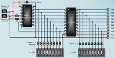 Elektronik: Schaltungsentwurf für einen 8 Kanal Schalter - Fotografie, Literatur, Elektronik, Reinigen & Präsentieren, Werkzeuge & Material - Das Wettringer Modellbauforum