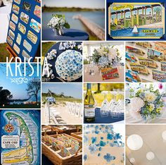 Cape Cod Wedding - blue details by kristaguenin, via Flickr