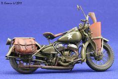 US Harley Davidson WLA 42, MINIART 1/35 scale. By Dmitry Eremin aka Eremin. #motorcycle #WW2 #scale_model https://www.dishmodels.ru/gshow.htm?p=9922&lng=E