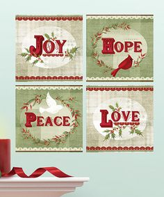 Take a look at this Holiday Greetings Wall Decal Set by Lot 26 Studio on #zulily today!