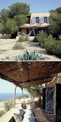 Pergola Attached To House Mediterranean Houses, Ibiza Formentera, Menorca, Outdoor Spaces, Outdoor Living, Natural Homes, Spanish House, My Dream Home, Dream Homes