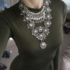 Necklace ARRIVING 2/26 Stunning bib statement necklace like this to be notified when it arrives the price will drop!!! Jewelry Necklaces