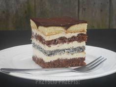 Kremowe ciasto z biszkoptami
