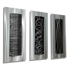 """""""Trifecta"""" Metal Wall Art, Metal Wall Sculpture by Jon Allen Statements2000 Fine Metal Art by Jon Allen"""