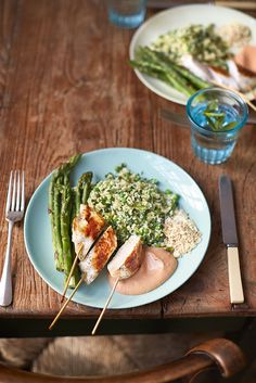 WHAT TO EAT TONIGHT with Jamie Oliver - Chicken lollipop dippers, pea and mint couscous, charred asparagus