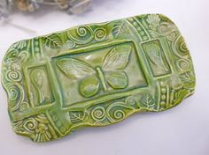 Ceramic Butterfly Soap Dish by IslandGirlPottery, $15.00