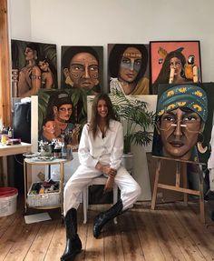 Artist Aesthetic, Aesthetic Painting, Painting Inspiration, Art Inspo, Art Hoe, Renaissance Art, Art Studios, Art Boards, Art Photography