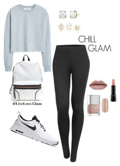 """""""Woah! ..... Chill"""" by naysharainey on Polyvore featuring MANGO, LE3NO, NIKE, Charlotte Russe, Butter London, MAC Cosmetics, women's clothing, women, female and woman"""