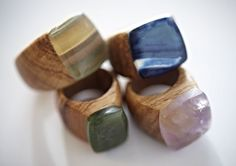 Wood rings are awesome. I used to want a wood wedding band. nga waiata
