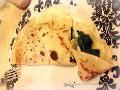 Crèpe salata con spinaci e formaggio