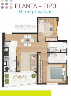 plantas apartamentos 65 - Pesquisa Google