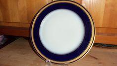Antique Limoges Dinner Plate/ Cobalt Blue/ by StyleJunkieAntiques, $95.00