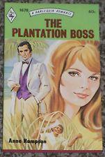 THE PLANTATION BOSS ANNE HAMPSON VINTAGE HARLEQUIN NEW ROMANCE BOOK #1678 1972