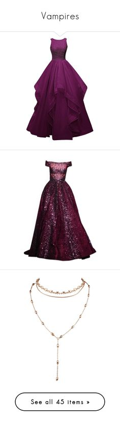 """""""Vampires"""" by littlemixer4 ❤ liked on Polyvore featuring dresses, gowns, long dress, long dresses, long bridesmaid dresses, prom dresses, bridesmaid dresses, prom gowns, satinee and couture gowns"""