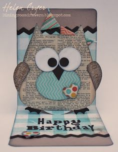 Sizzix Owl Pop 'n Cuts Card {the dining room drawers}