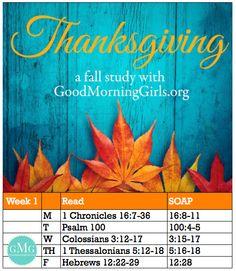 Thanksgiving_Reading_Plan_Wk1 #GoodMorningGirls