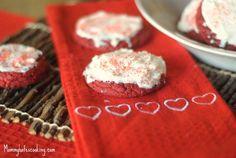 Valentine Treat-Red Velvet Cake Cookies