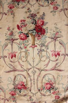 Image result for fabric with urns arabesques and florals for sale