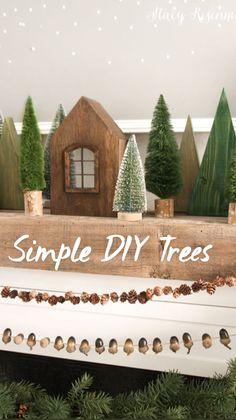 Cottage Christmas, Christmas Trees, Christmas Crafts, Merry Christmas, Christmas Decorations, Christmas Ornaments, Handmade Christmas, Holiday Fun, Christmas Holidays