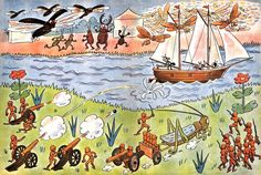 Ferda Mravenec v cizích službách - první vydání (r.1937) Sailing Ships, Boat, Vehicles, Anime, Dinghy, Boats, Cars, Anime Shows, Anime Music