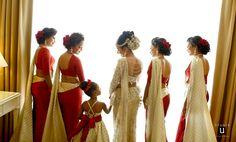 Pretty bridesmaids sarees