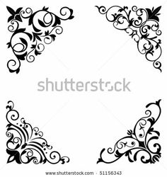 Flower patterns and borders for design and ornate. Jpeg version also available in gallery by Seamartini Graphics Media, via ShutterStock