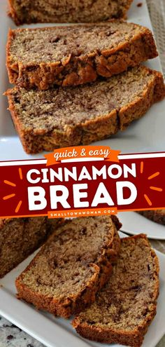 36 reviews · 75 minutes · Vegetarian · Serves 10 · This moist Cinnamon Bread is the best breakfast recipe with its sweet cinnamon butter swirl! This easy quick bread recipe will surely hypnotize anyone on the first bite. Save this pin! Quick Bread Recipes, Easy Bread, Banana Bread Recipes, Baking Recipes, Yummy Recipes, Candy Recipes, Vegetarian Recipes, Cinnamon Butter, Cinnamon Bread
