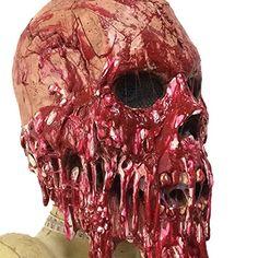 Drawihi Halloween Maske Tropfen Blut Bote Latex Maske Film und Fernsehen Requisiten Horror Horror Zombie Kopf Sets: Amazon.de: Küche & Haushalt