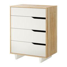 MANDAL Kommode mit 4 Schubladen   - IKEA