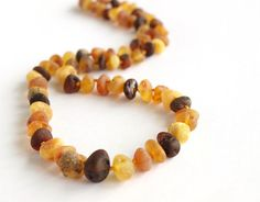Baltic Amber Healing Necklace. Unpolished Multicolor amber beads. $27.99 USD