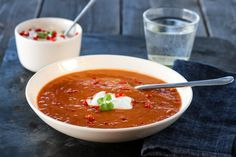 Indisk linsesuppe Bolognese, Garam Masala, Feta, Chili, Salsa, Curry, Good Food, Soup, Mexican