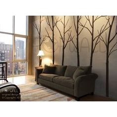 Art Wall Decals Wall Stickers Tree Decal Winter Trees by Nou Wall - modern - decals - Etsy.Perfect for Dinning Room Tree Decals, Vinyl Wall Decals, Decoration Bedroom, Wall Decor, Wall Art, Diy Wall, Wall Murals, Brown Wall Stickers, Wall Stickers Tree