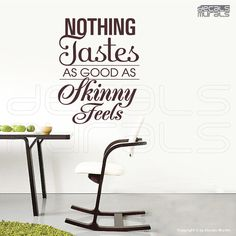 Wall decal quotes  Nothing Tastes as good as by decalsmurals, $27.00. I love this! Stay Motivated!