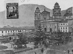 Plaza de Bolivar de Bogotá en 1900