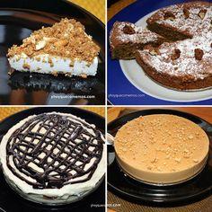 7 recetas de tartas fáciles para sorprender a tus amigos y familiares. Postres y dulces con galletas oreos, dulce de leche, almendras, crema de avellanas...