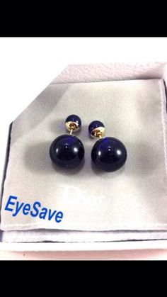 Authentic NIB Christian Dior Mise En Dior Tribal Earrings/ Dark Blue - http://designerjewelrygalleria.com/christian-dior/authentic-nib-christian-dior-mise-en-dior-tribal-earrings-dark-blue/