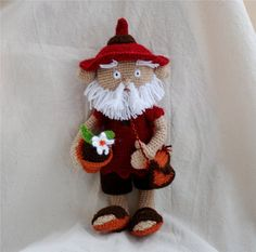 I LOVE this!!  amigurumi hobbit a crocheted stuffed fairy art doll by crochAndi, $45.00