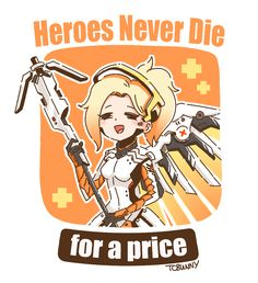 Mercy artwork is available now at https://society6.com/tcbunny! One of my follower asked to sell art prints of Mercy. Hope you guys also like it!