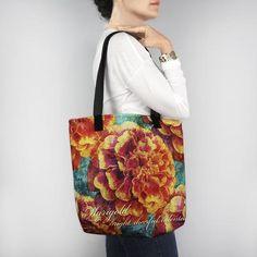 Birthday Blossom Tote Bag - October Marigold