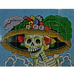 Mexican Style Mural - Catrina Cara (Day of the Dead)