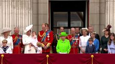The Queen's official 90th birthday has been marked at the Trooping the Colour parade in central London. More than 1,600 soldiers and 300 horses took part in the event on Horse Guards Parade. The Queen was joined other members of the Royal Family on the Buckingham Palace balcony for an RAF fly-past.
