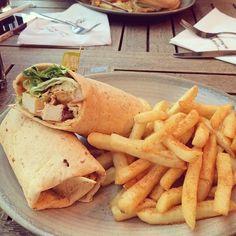 Chicken sandwich and chips