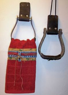 Stirrup Towel holder. If they are used, it would probably be best to clean them first. lol. I know what's on the bottom of my boots!