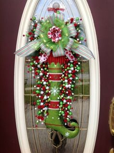 """Christmas Teardrop Vertical Swag """"Glitter Stocking"""" by catrulz"""