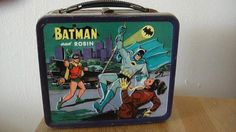 For Russ' first day at school!!!!!!    1966 Batman & Robin Metal Lunchbox Rare by Aladdin by thinkpriddy, $199.99