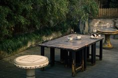 Chinese chess tables, tea cups, and a lazy cat in a backyard. #travelogue #travel #Hangzhou #beautiful #scenary #photography  #gorgeous #romantic #urbanlife #urbanite #city #citylife #nature