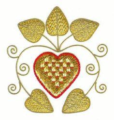 Goldwork Heart